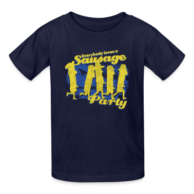 EVERYBODY LOVES A SAUSAGE PARTY Kids' Shirts