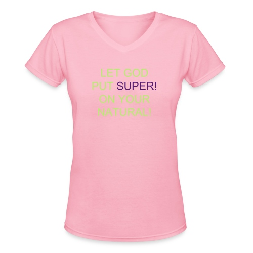 Super! Tee V-Neck - Women's V-Neck T-Shirt