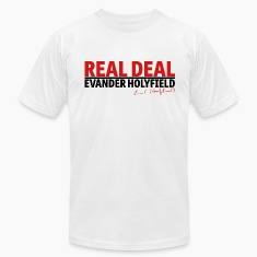 Real Deal Evander Holyfield w/ sig mp T-Shirts