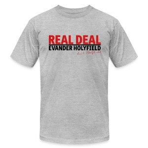 Real Deal signature Evander Holyfield - Men's Fine Jersey T-Shirt