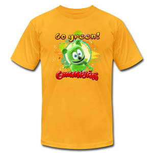 Gummibär Go Green Earth Day Men's T-Shirt - Men's T-Shirt by American Apparel