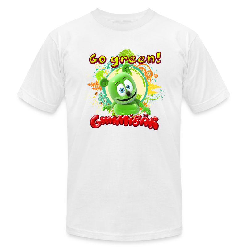 Gummibär (The Gummy Bear) Go Green Earth Day Men's T-Shirt - Men's T-Shirt by American Apparel