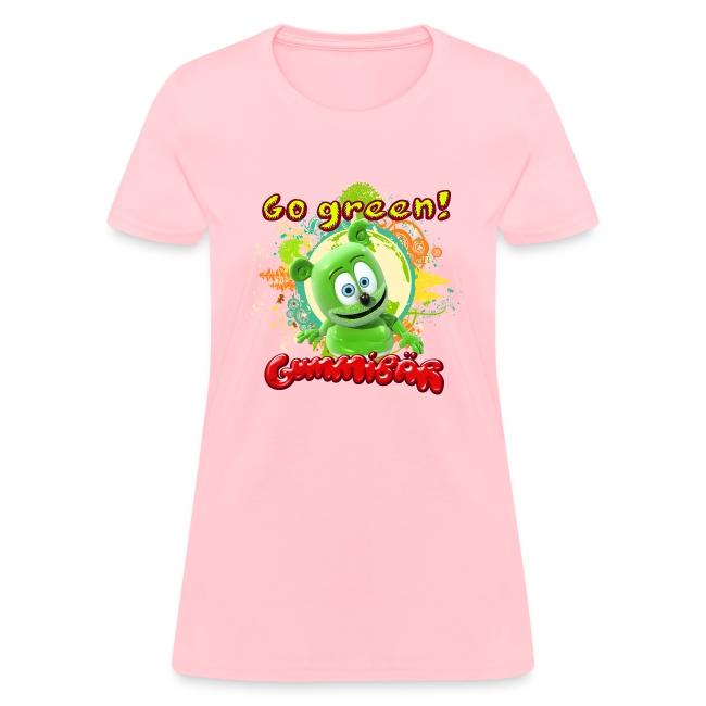 Gummibär (The Gummy Bear) Go Green Earth Day Women's T-Shirt