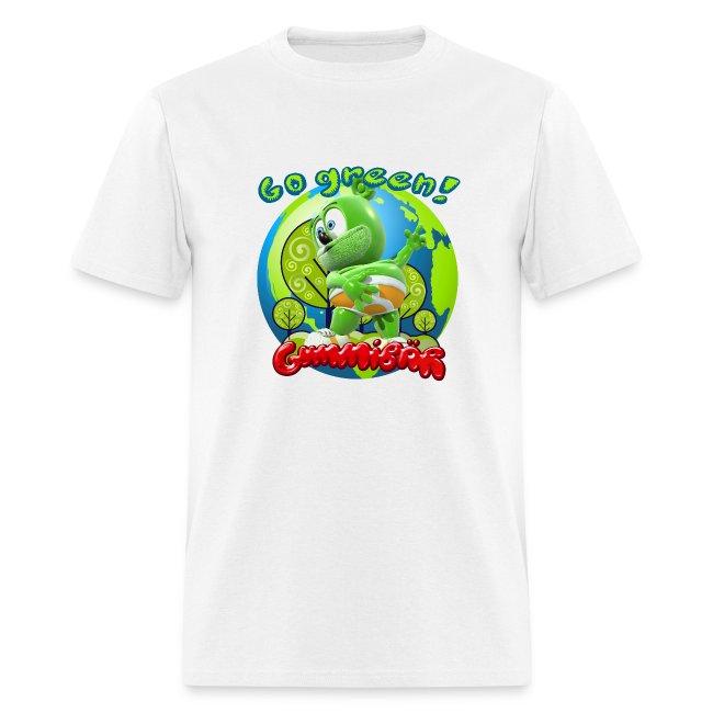 Gummibär (The Gummy Bear) Go Green Earth Day Men's T-Shirt