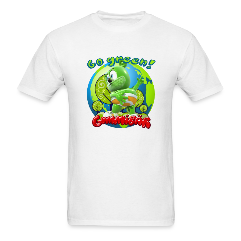 Gummibär Go Green Earth Day Men's T-Shirt - Men's T-Shirt