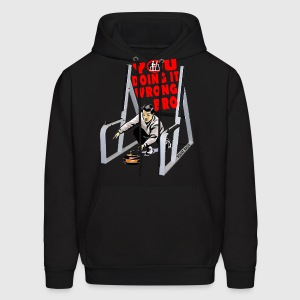 Curling In The Squat Rack. White Hoodies - Men's Hoodie