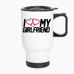I Love my Girlfriend Bottles & Mugs