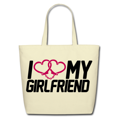 I Love my Girlfriend Bags
