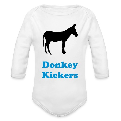 Donkey Kickers Baby Shirt - Organic Long Sleeve Baby Bodysuit