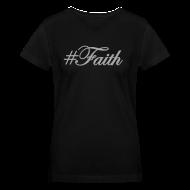 T-Shirts ~ Women's V-Neck T-Shirt ~ Silver Glitz #Faith Tee by Alexis Bellino