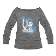 Long Sleeve Shirts ~ Women's Wideneck Sweatshirt ~ Retro Up North Women's Wide Neck Sweatshirt