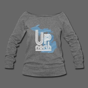 Retro Up North Women's Wide Neck Sweatshirt - Women's Wideneck Sweatshirt