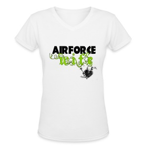 airforcewife2 - Women's V-Neck T-Shirt