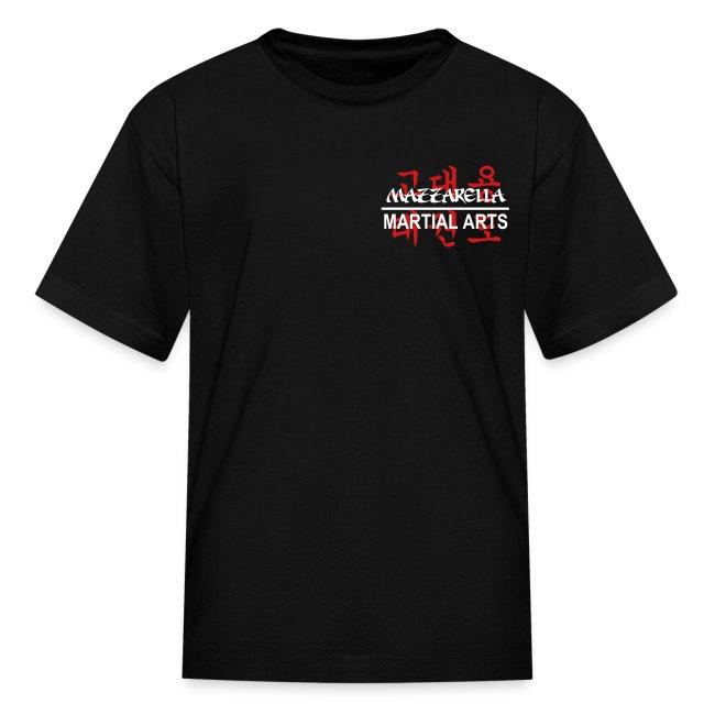 Kids' T-Shirt: Red Dragon - BLACk