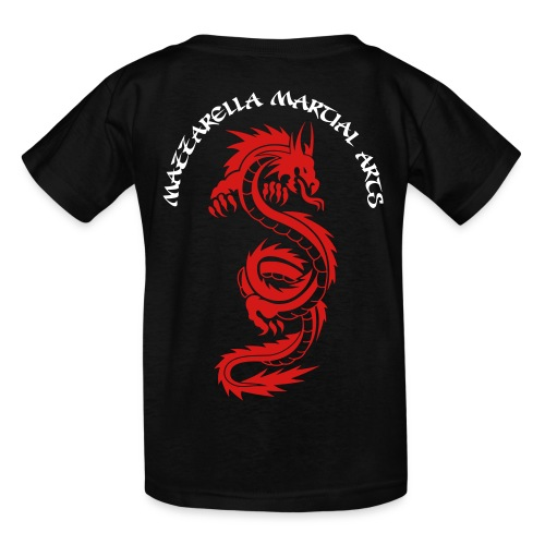 Kids' T-Shirt: Red Dragon - BLACk - Kids' T-Shirt