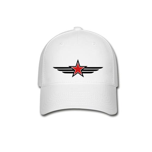 Red & Black Star  - Baseball Cap