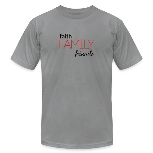 Faith, Family, Friends Men's T-Shirt by Alexis Bellino - Men's T-Shirt by American Apparel