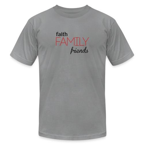 Faith, Family, Friends Men's T-Shirt by Alexis Bellino - Men's  Jersey T-Shirt