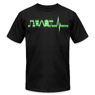T-Shirts ~ Men's T-Shirt by American Apparel ~ Beast Beat- Green