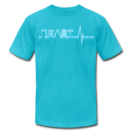 T-Shirts ~ Men's T-Shirt by American Apparel ~ Beast Beat- Blue