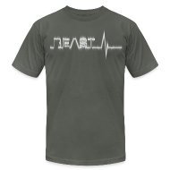 T-Shirts ~ Men's T-Shirt by American Apparel ~ Beast Beat- White