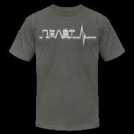 T-Shirts ~ Men's T-Shirt by American Apparel ~ Beast Beat- White
