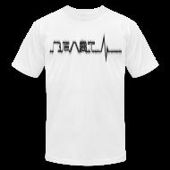 T-Shirts ~ Men's T-Shirt by American Apparel ~ Beast Beat- Black