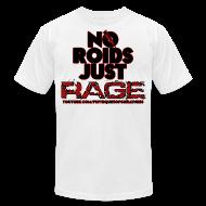 T-Shirts ~ Men's T-Shirt by American Apparel ~ No Roids BlackText