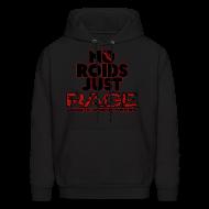 Hoodies ~ Men's Hoodie ~ No Roids Black Text HOODIE