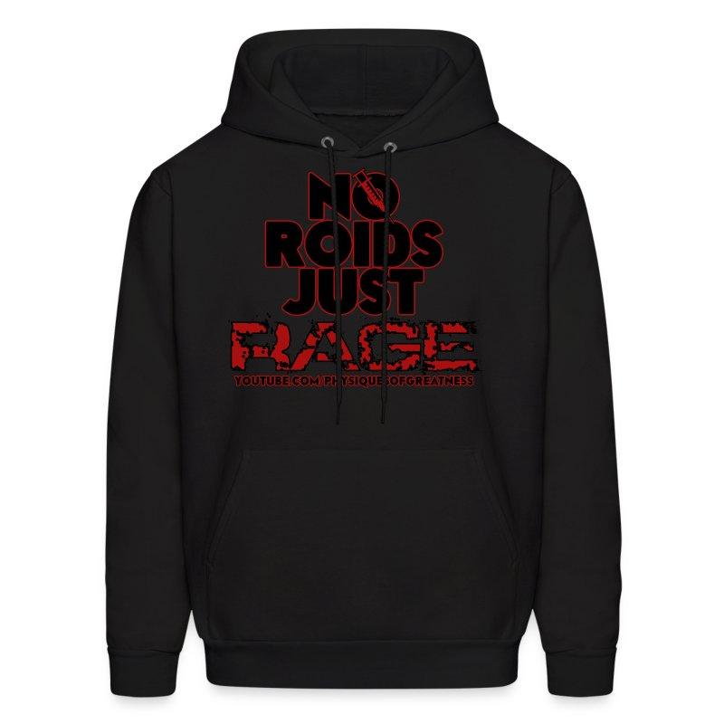 No Roids Black Text HOODIE - Men's Hoodie
