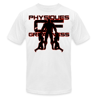 T-Shirts ~ Men's T-Shirt by American Apparel ~ Muscle Worshiper Front Only (Red)