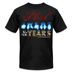 Blood Sweat & Years - Men's T-Shirt by American Apparel
