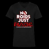 T-Shirts ~ Men's V-Neck T-Shirt by Canvas ~ No Roids White Text VNeck