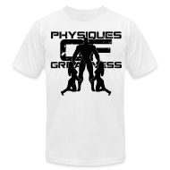 T-Shirts ~ Men's T-Shirt by American Apparel ~ Muscle Worshiper Front Only (Black)