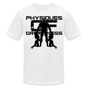 Muscle Worshiper Front Only (Black) - Men's T-Shirt by American Apparel