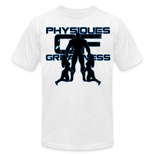 Muscle Worshiper Front Only (Blue) - Men's T-Shirt by American Apparel