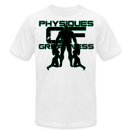 T-Shirts ~ Men's T-Shirt by American Apparel ~ Muscle Worshiper Front Only (Green)