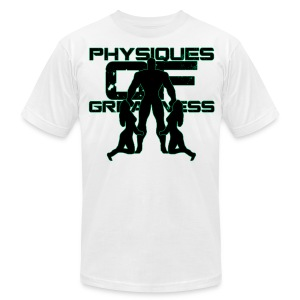 Muscle Worshiper Front Only (Green) - Men's T-Shirt by American Apparel