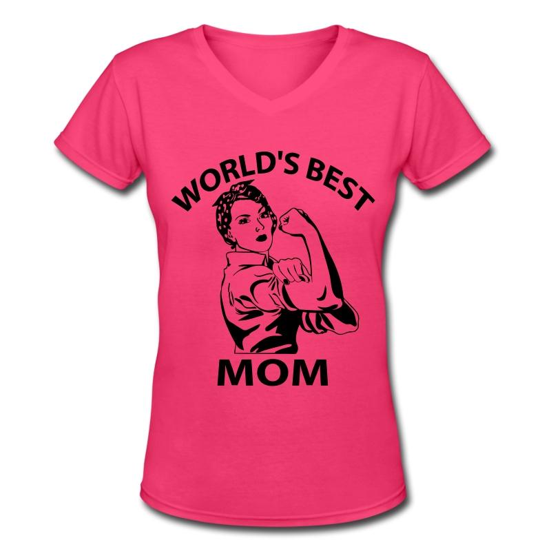 Worlds best t shirt spreadshirt for Best v neck t shirts