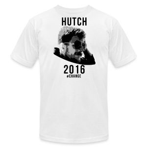 Hutch 2016 Slim Fit White Shirt - Men's T-Shirt by American Apparel