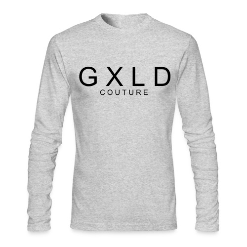 Men's Long Sleeve Original Gold Couture Logo T-Shirt - Men's Long Sleeve T-Shirt by Next Level