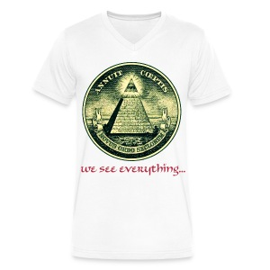 All Seeing Eye - Men's V-Neck T-Shirt by Canvas