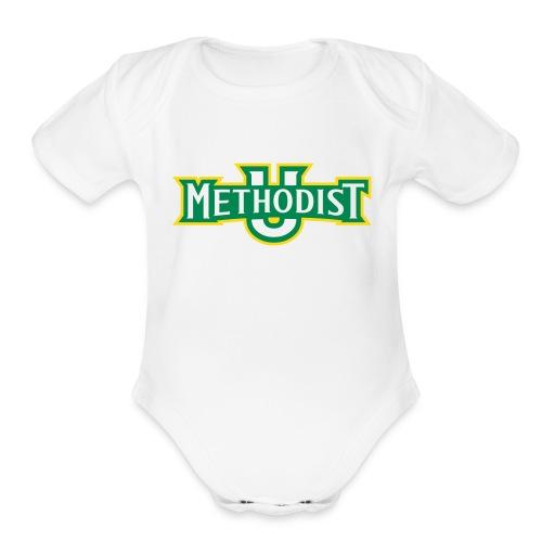 Short sleeved   - Methodist U - Organic Short Sleeve Baby Bodysuit