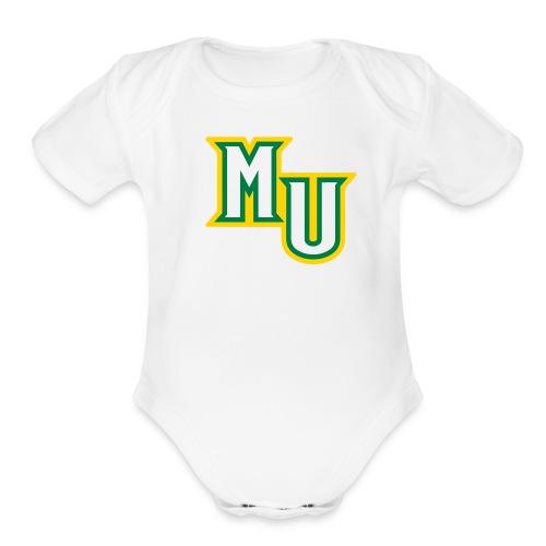 Short sleeve   - MU - Organic Short Sleeve Baby Bodysuit