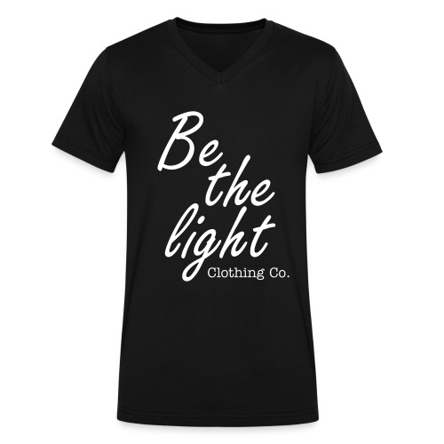 Be The Light Vneck - Men's V-Neck T-Shirt by Canvas