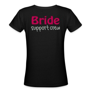 Bridal Support Crew Bridesmaids Shirts - Women's V-Neck T-Shirt