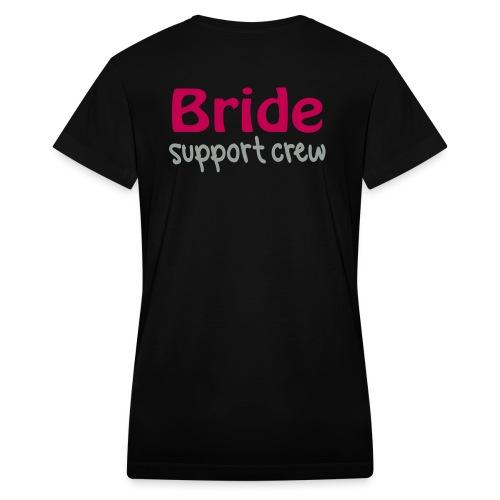 Bridal Support Crew Bridesmaids Shirts - Women's V-Neck T-Shirt