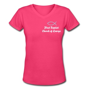 FBC lowrys - Women's V-Neck T-Shirt