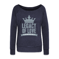 Long Sleeve Shirts ~ Women's Wideneck Sweatshirt ~ Silver Legacy Sweater