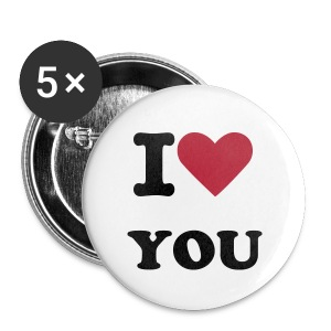 I LOVE YOU - Large Buttons